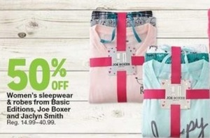 Women's Sleepwear & Robes from Basic Editions, Joe Boxer, and Jaclyn Smith