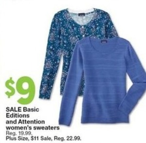 Basic Editions and Attention Swomen's Sweaters