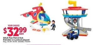 Paw Patrol Sub Patroller or Lookout Playset
