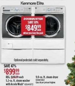 Kenmore Elite Steam Washer or Steam Dryer