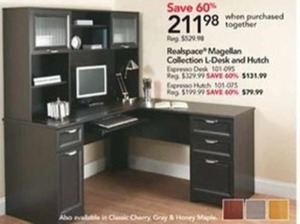 Realspace Magellan Collection L-Desk & Hutch