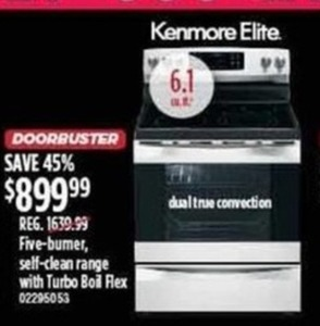 Kenmore Elite Five-Burner Oven