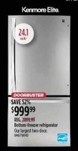 Kenmore Elite 24.1-cu-ft. Bottom-Freezer Refrigerator