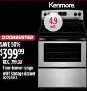 Kenmore Four-Burner Range w/ Storage Drawer