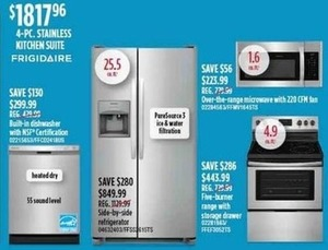 Frigidaire 4-Piece Stainless Kitchen Suite