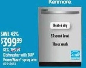 Kenmore Dishwasher With Power Wave Spray Arm