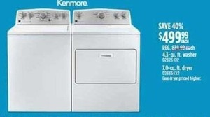 4.3 cu. ft. Washer or 7.0 cu. ft. Dryer