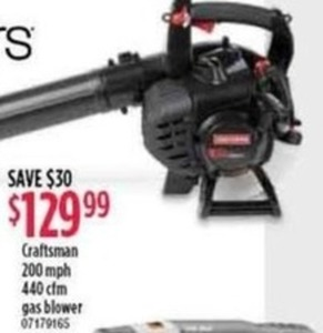 Craftsman 200mph 440cfm Gas Blower