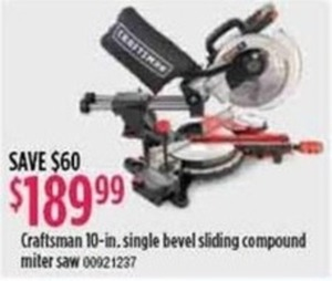 "Craftsman 10"" Single Bevel Sliding Compound Miter Saw"