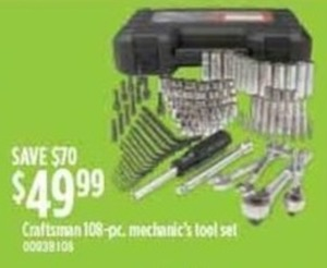 Craftsman 108-Piece Mechanic's Tool Set