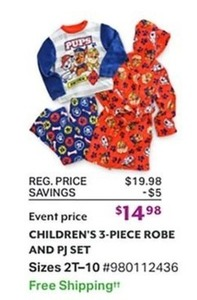 Children's 3-Piece Robe and PJ Set