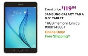 Samsung Galaxy Tab A 8.0 Tablet 16GB Memory