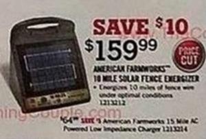 American Farmworks 10 Mile Solar Fence Energizer
