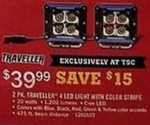 Traveller 4 LED Light 2-Pack