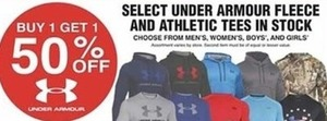 Select Under Armour Fleece and Athletic Tees