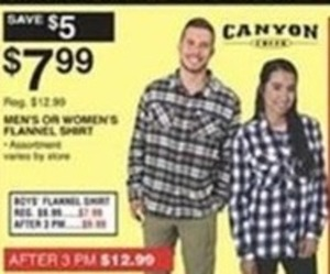 Canyon Men's or Women's Flannel Shirt
