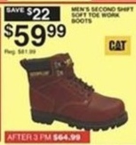 Cat Men's Second Shift Soft Toe Work Boots