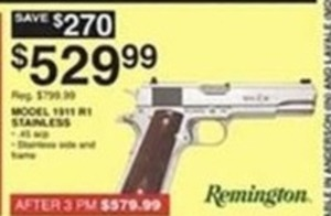 Remington Model 1911 Stainless