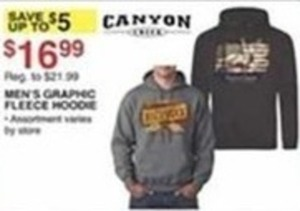 Canyon Creek Men's Graphic Fleece Hoodie