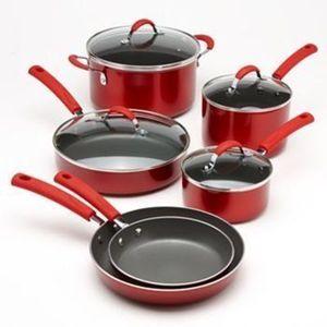 Food Network 10pc Metallic Nonstick Cookware Sets