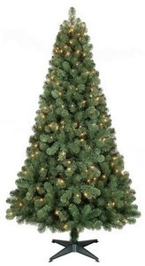 Wondershop 6-ft Alberta Spruce Clear Pre-Lit Tree