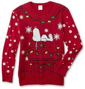 Peanuts By Schulz Peanuts Young Men's Christmas Sweater