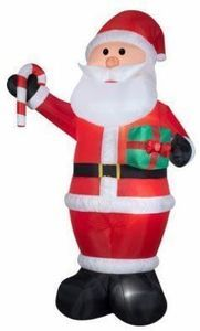 Inflatable Santa, 12-Ft.