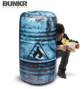 BUNKR Build Your Own Battlezone 1 Piece Inflatable Oil Barrel for Blaster Battles Inflatable Battle Bunkerz