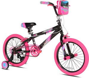 "Kent 18"" Sparkles Girls Bike, Black/Pink"