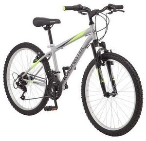 "Roadmaster 24"" Granite Peak Boy's Mountain Bike, Silver"