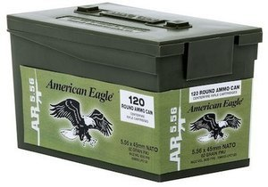 American Eagle AR-5.56 M855 Rifle Ammo Mini Can 62-gr. FMJ Federal American Eagle 5.56 Nato