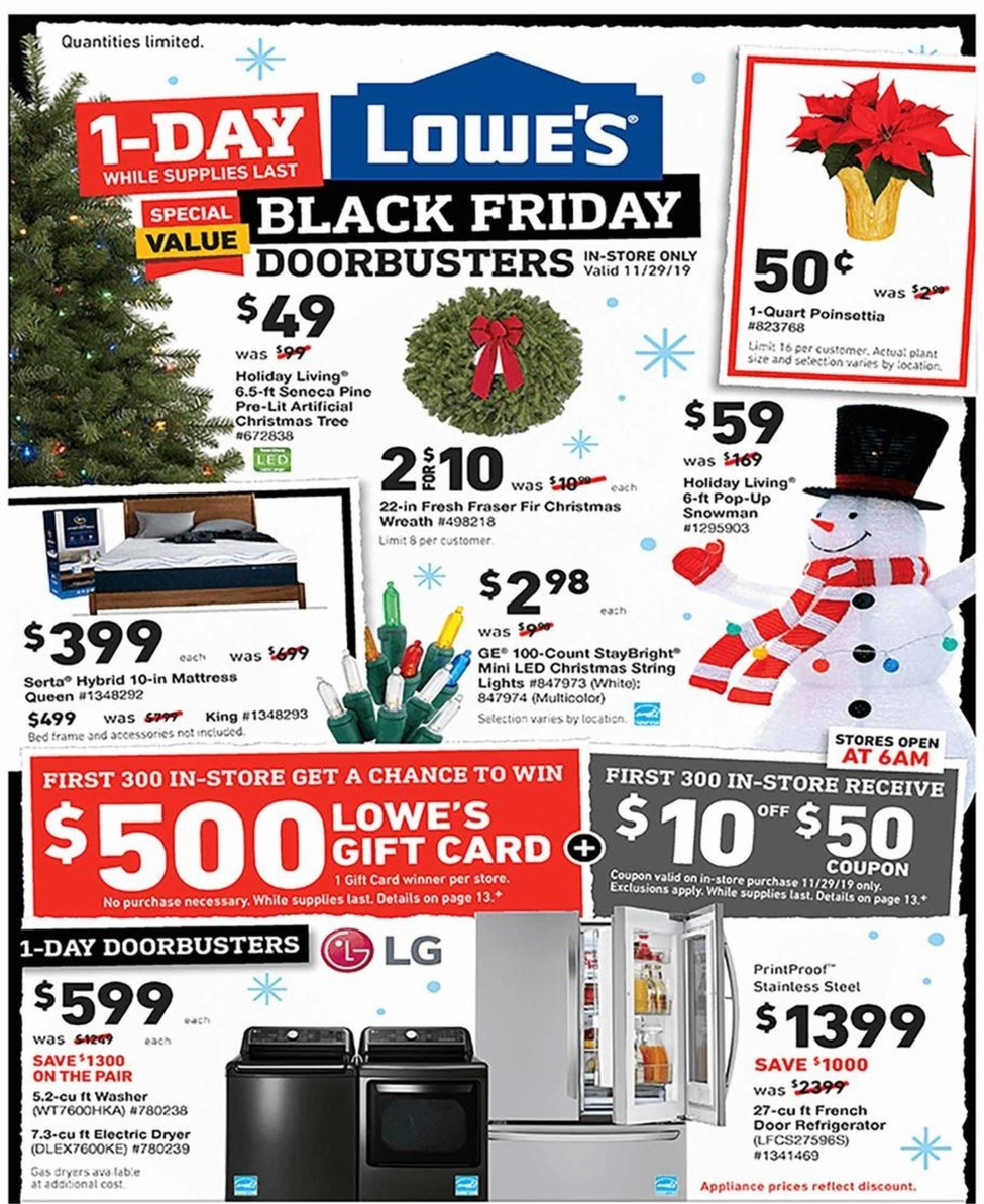 Lowes Black Friday 2020 Ad Scan